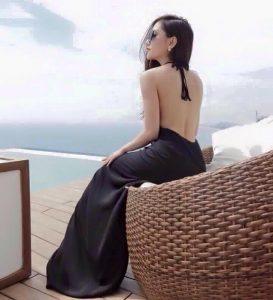 đầm hở lưng đẹp
