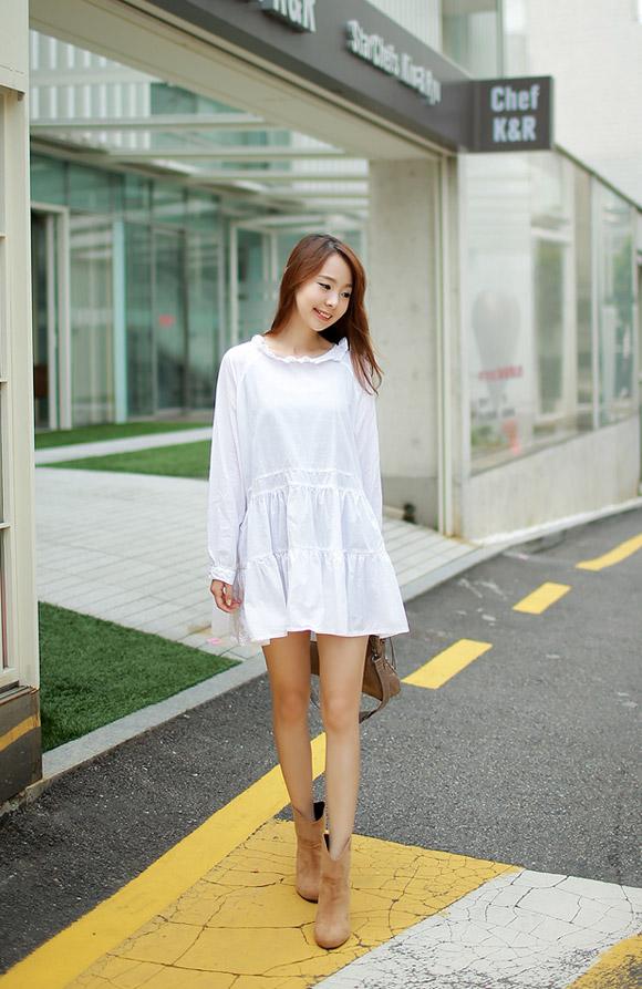 váy suông dạo phố