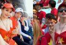 Những cổ động viên ăn mặc 'sexy' đến cổ vũ bóng đá, khiến các anh em đứng ngồi không yên