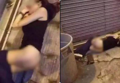 Thiếu nữ uống rượu say xỉn bị bạn bè tụt quần lôi ra đường chụp ảnh đăng lên mạng