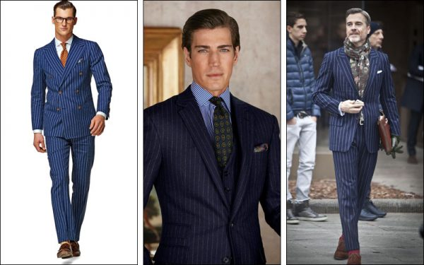 Hoạ tiết sọc trên suit