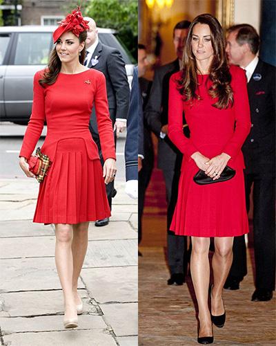 Công nương trông rực rỡ và sang trọng khi diện đầm đỏ của Alexander McQueen
