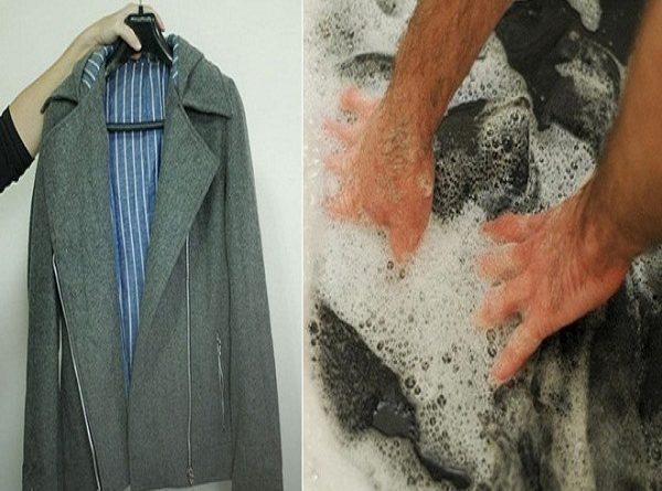 Cách giặt áo dạ bằng tay