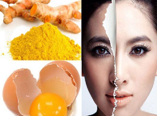 Cách đắp mặt nạ Tinh bột nghệ với lòng đỏ trứng gà