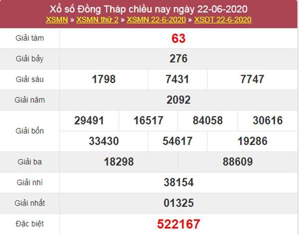 Soi cầu XSDT 29/6/2020 chốt KQXS Đồng Tháp thứ 2