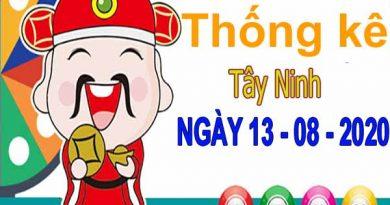 Thống kê XSTN ngày 13/8/2020 – Thống kê KQXS Tây Ninh thứ 5
