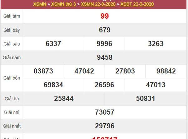 Thống kê XSBT 29/9/2020 chốt số Bến Tre cùng cao thủ