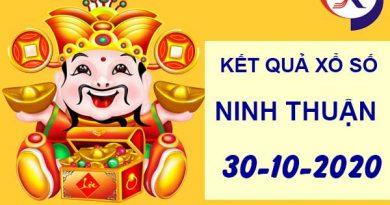 Thống kê xổ số Ninh Thuận thứ 6 ngày 30-10-2020