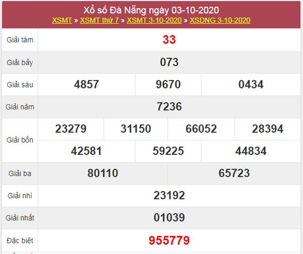 Soi cầu KQXS Đà Nẵng 7/10/2020 thứ 4 cùng cao thủ