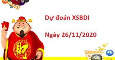 Dự đoán XSBDI 26/11/2020