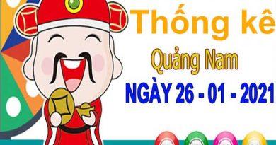 Thống kê XSQNM ngày 26/1/2021 – Thống kê xổ số Quảng Nam thứ 3