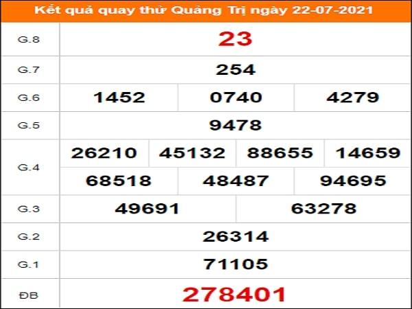Quay thử xổ số Quảng Trị ngày 22/7/2021