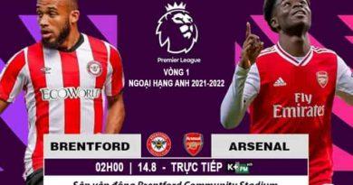 Brentford vs Arsenal, 02h00 ngày 14/08 Nhận định, soi kèo